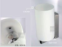 Shipping Free By EMS Modern Glass And Iron Aisle Wall Lamp For Bathroom, Living Room, Saloon, etc.(White Color)