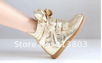 Женские кеды Hot sale new arrived 2012 new bill shoes, leather, Leather Height Increasing Sneakers