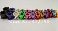 24pcs/lot Ear Plug Flesh Tunnels Ear Plugs Ring Steel Colorful Stainless Steel Ear Plug
