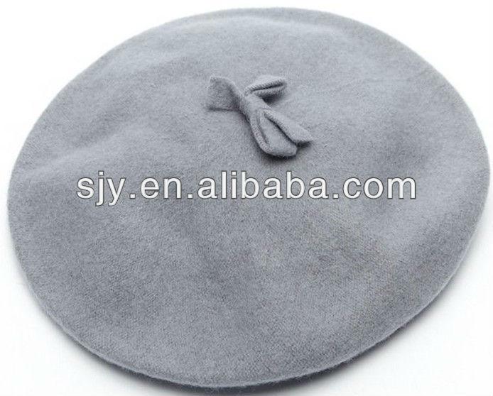 Tricot de laine béret chapeau motif, Le béret bleu
