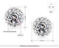 Рокси брендов, рождественских/свадебный подарок, мода снег женщин серьги, покрытием из белого золота ювелирные изделия партии, ясно австрийский хрусталь, 102081