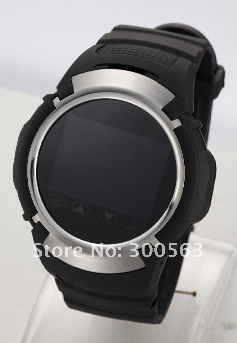 Free shipping GSM Quad-bands,with camera,touch screen,watch style mobile phone MQ222,Sport watch phone,multi-language,black