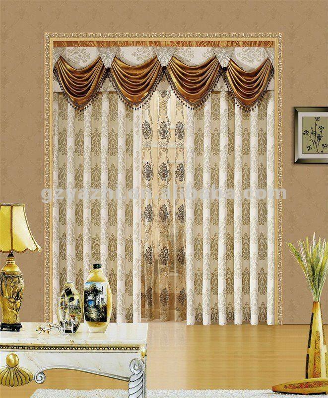 Casa de la cortina con cenefas europea, sencillo y generoso ...