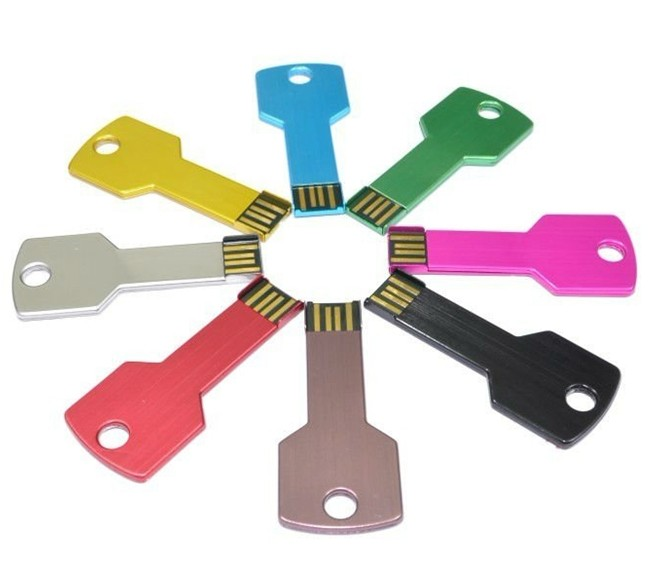 Innovative design colorful key style usb drive 4gb