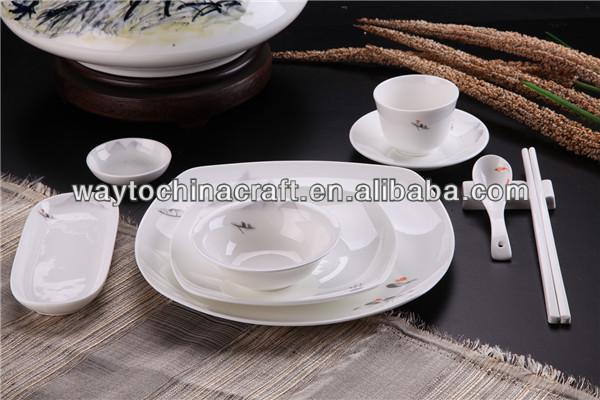 Petite Montagne Et Poissons De Style Vintage Porcelaine