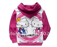 Кофта для девочки s! Hot Sale Fashion Cartoon Hello Kitty Hoodies/ Sweatshirts/Girl's Sweater/Kids Clothes/Kids Sweater/Babywear