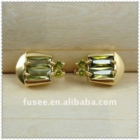 Golden Plated with Emerald Jewelery Sets F1120004 .15