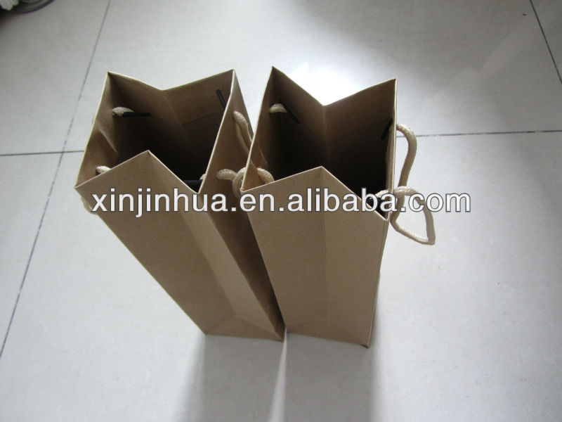 wine bag/ kraft paper bag for promotion