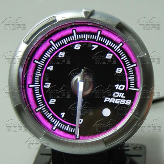 60MM Pink Blue LED Backlight Sensor + Stepping Motor Defi ADVANCE C2 Oil Pressure Press Gauge Meter 2