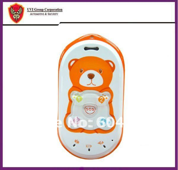China Post Free Shipping Bear mould  GPS tracking Phone with SOS Button 2-way talking for Kid, child, Pet, Elder, Human