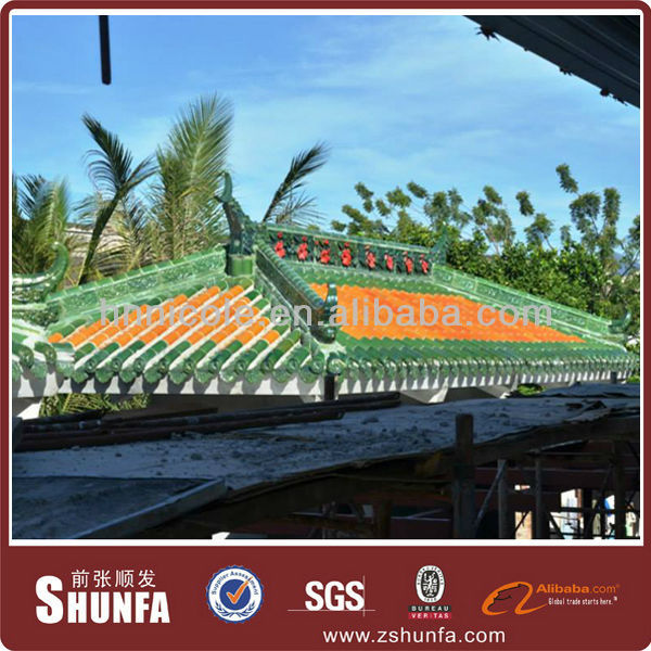 Tiles for asphalt roofing shingles