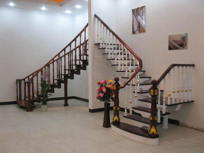 Buen qulity y diseño elegante escalera de madera maciza escaleras ...
