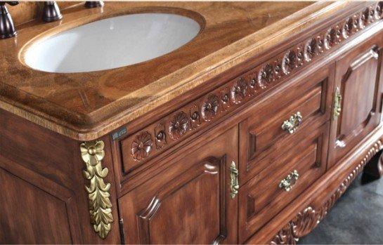 Muebles De Baño Clasicos:mueble de baño clásico de madera maciza muebles de baño-Cuarto de