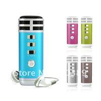 MINI Pocket Microphone Karaoke Player Home KTV Works For iphone/ipad/MP3/MP4 PC Free Shipping