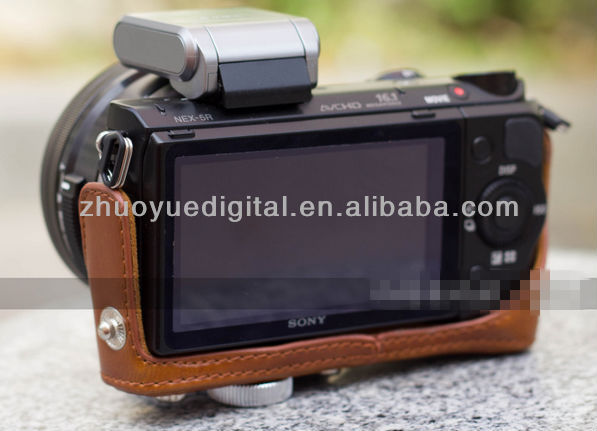 waterproof shockproof leather camera photo bag for sony NEX 5R