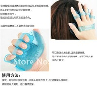 100pcs/lot EMS free shipping brand new  silicone Shampoo brush hair washing massager hair care tool