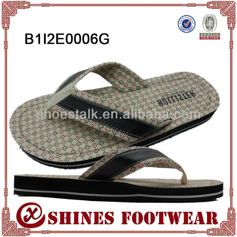 Newest designs flip flop wholesale for men 2013