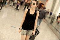 Женский топ Temperament cotton long T-shirt Y0136 woman's dress hot sale