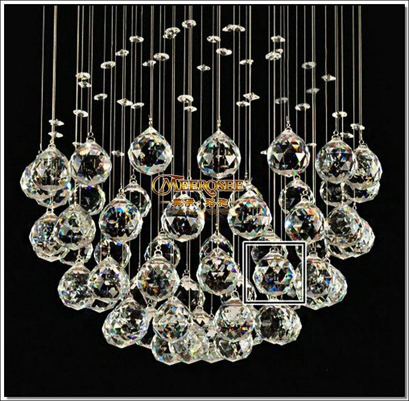 Forma de la bola de cristal belleza chandelier moderna lámpara ...
