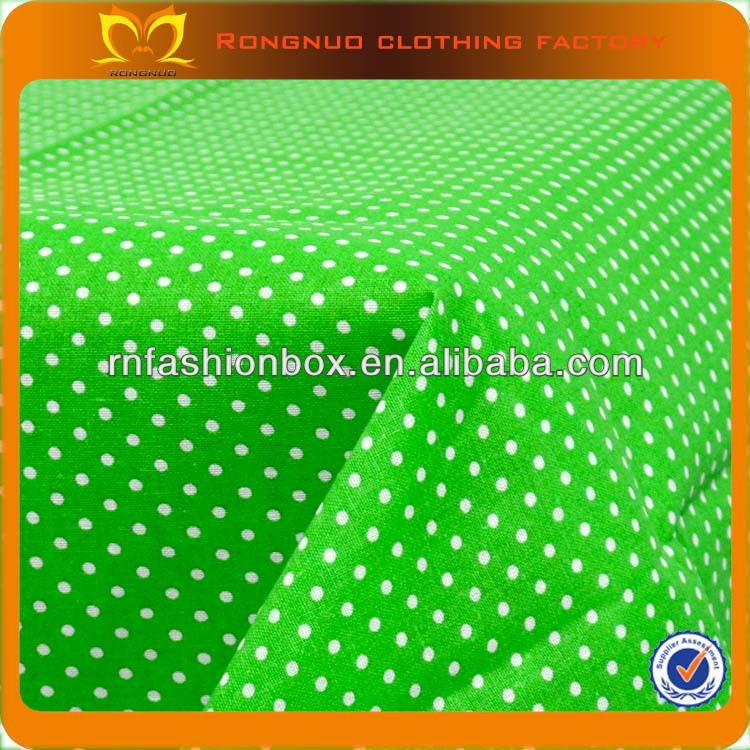 100*150cm Green With White Dot Pre-Cut Charm Cotton Quilt Fabric 100%Cotton Printed Fabric Wholesale