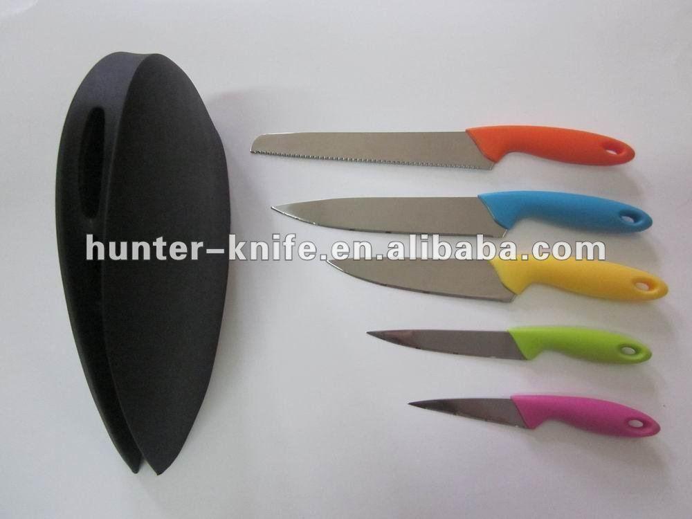 Kitchen Knife Set -5Pcs With Storage Block