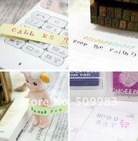 Печать Cute 28pcs Alphabet Stamp wood stamp Diary stamp