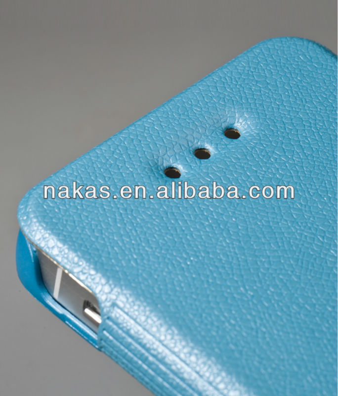 Flip PU leather case for mobile phone for iphone5