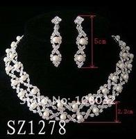 Ювелирный набор shining jewelry set for bride, two rhinestone fish chains as decorations