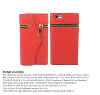 Чехол для для мобильных телефонов Fashion Zipper wallet-style PU leather Flip Case Cover For iPhone 5 Apple Accessories