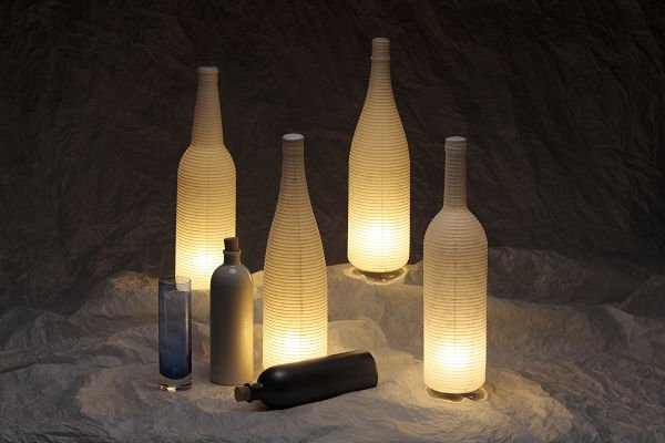 Bottle of the sake shaped table lamp japanese paper usetype s 1143 bin no3 aksw mozeypictures Images