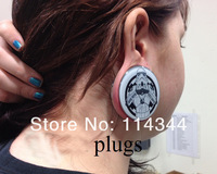 Ювелирное украшение для тела 316 stell ear tunnel body piercing jewelry ear plug mixed 11sizes, 132pcs/lot
