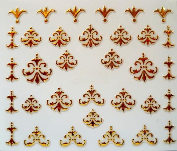 Наклейки для ногтей New 3D Nail Art Stickers Decal Metallic Gold Royal Flowers Design Decoration Manicure Stamping Foils Tools