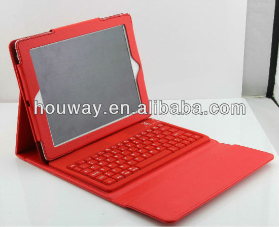 Leather Case + wireless Bluetooth Keyboard for iPad 2 3 the new pad stand bag colors