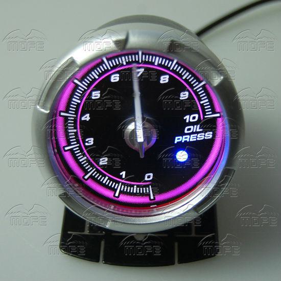 60MM Pink Blue LED Backlight Sensor + Stepping Motor Defi ADVANCE C2 Oil Pressure Press Gauge Meter DSC_0338
