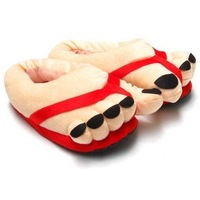 2012best selling Comfortable Cotton Warm Indoor Packet feet slippers Special Plush Warm soft indoor Christmas shoes