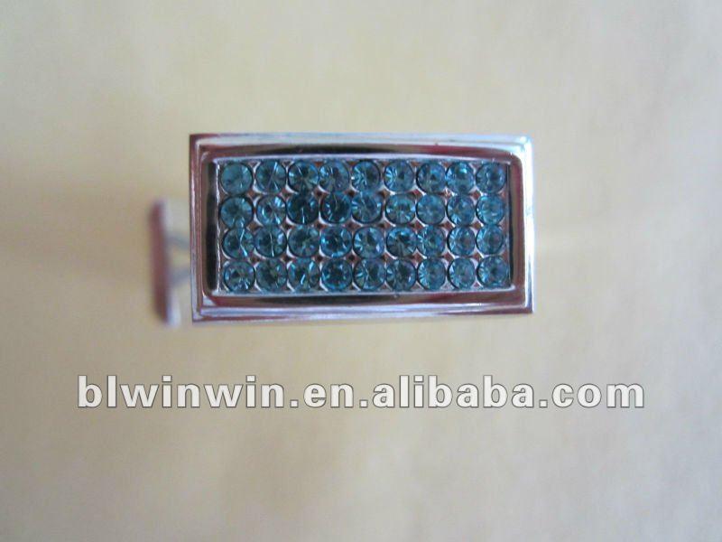 metal enamel promotion cuff link & tie clip suit