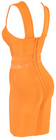 Женское платье Bandage Dress for Women HL Evening Party Bandage Dress with U-neck and Orange Top Quality in Stock Factory Price