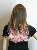 Pink and brown mixed color wig body wave free shipping