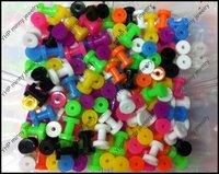 Body Piercing Jewelry Colorful Acrylic Tunnels UV Flesh Tunnel Ear Plugs Ear Expander Ear Plug Mix 8sizes 160pcs Free Shipping