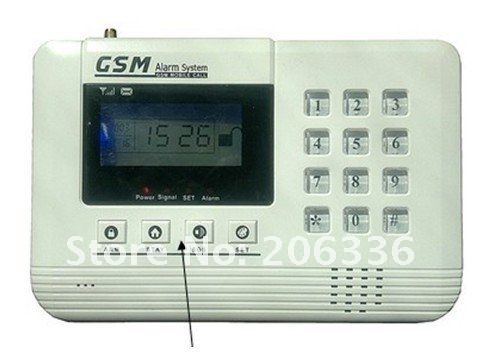wireless GSM Alarm,Alarm,GSM home alarm with LCD display+free DHL shipping
