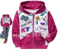 Кофта для девочки s! Hot Sale Fashion Cartoon Hello Kitty Hoodies/ Sweatshirts/Girl's Sweater/Kids Clothes/Kids Sweater/Babywear