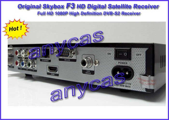 Original Skybox F3, 1080P Full HD digital satellite receiver high definition DVB-S, free shipping, 1 piece post, 100% original