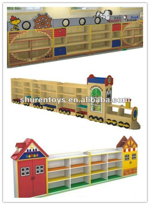 School furniture of babies toys cabinet train style