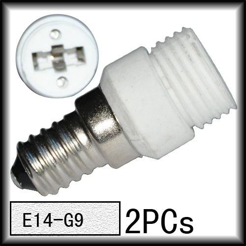 2pcs/lot  Good Quality  E14 to G9 Light Lamp Base Adapter Socket Converter Ceramics White For Sample free shipping