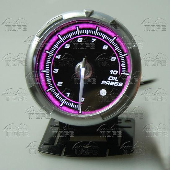 60MM Pink Blue LED Backlight Sensor + Stepping Motor Defi ADVANCE C2 Oil Pressure Press Gauge Meter DSC_0342