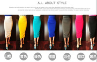 2013 Korean New Arrival Spring And Summer Women Candy Color Slim Bust Skirt Over Hip 6343 With Seven Colors Free Shipping