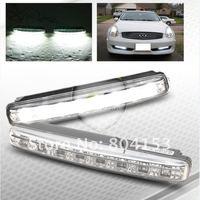 1 Pair Car 8 LED White LED Guiding DRL Daytime Running LED Light