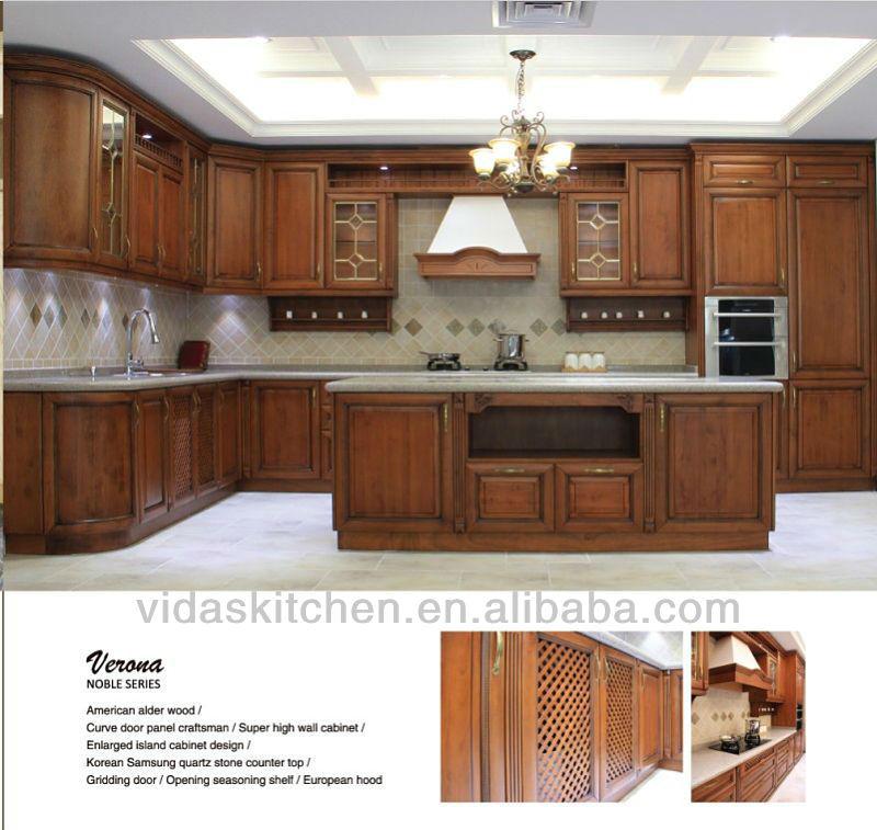 de madera maciza clásico de gabinetes de cocinaArmariosGabinetes