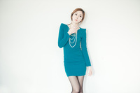 Free shipping 2013 New Fashion For Women's  Sexy long sleeve Knit Green Dress Retail  Wholesale #12506