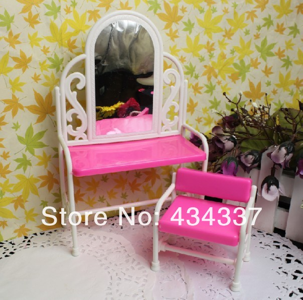 Lady Favourite Birthday Present Furnishings For Barbie Dolls Youngsters Play Toys Fancy Classical Dresser Set Doll Accent Dressing desk